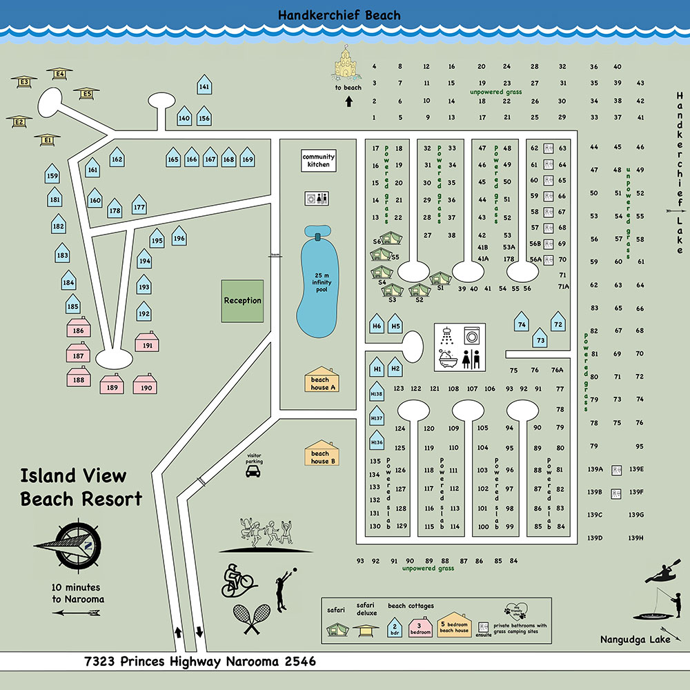 Map of Island View Beach Resort